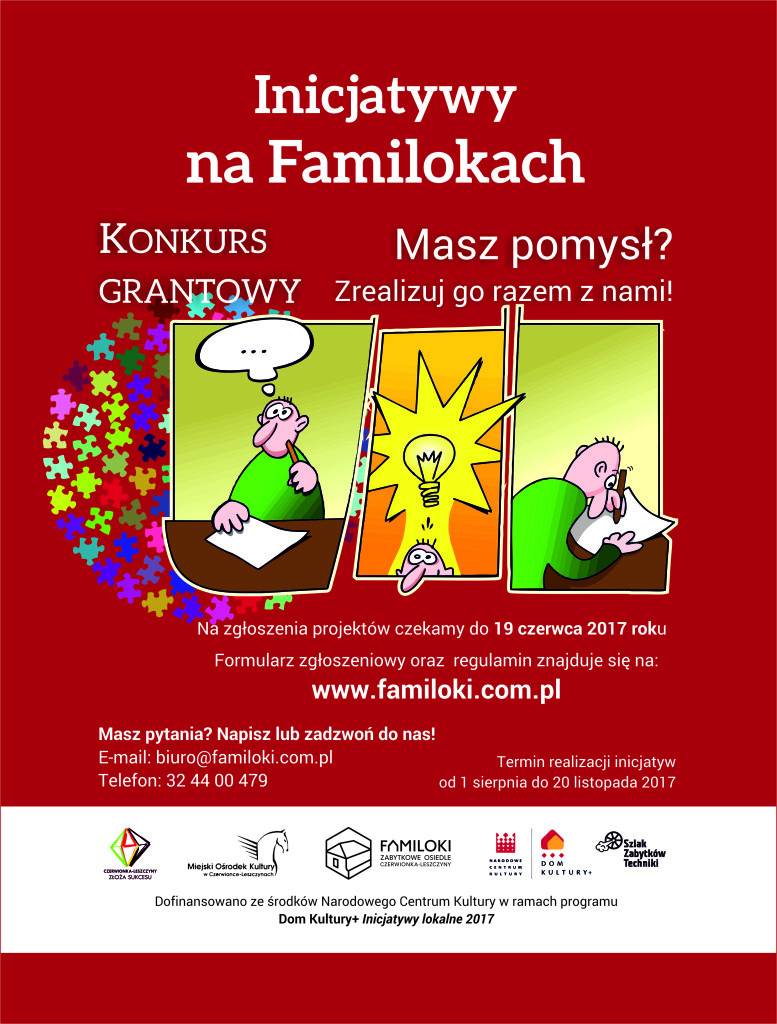 Plakat incjatywy na familokach dom kultyry+ IL NCK